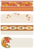 De Banners van de herfst Stock Foto's