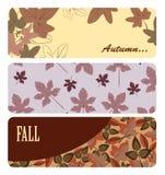 De banners van de herfst Stock Foto