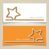 De banners van de Kerstmisster Stock Afbeeldingen