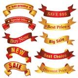 De banners van de korting Stock Afbeeldingen