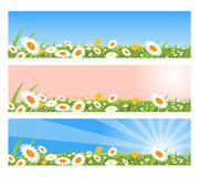 De banners van de lente