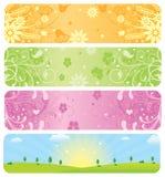 De Banners van de lente stock illustratie