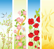 De banners van de lente en van de zomer stock illustratie