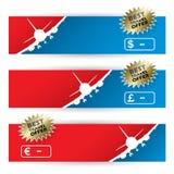 De banners van de luchtreis vector illustratie