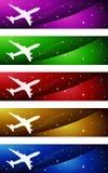 De Banners van de luchtvaart Royalty-vrije Stock Afbeeldingen