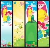 De banners van de moederdag stock illustratie