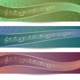 De banners van de muziek vector illustratie
