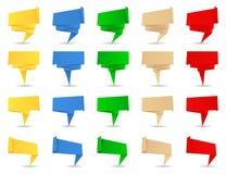 De banners van de origami Royalty-vrije Stock Afbeelding