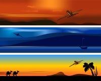 De banners van de reis, cdr vector Stock Fotografie