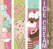 De banners van de Snoepjes van de zomer Royalty-vrije Stock Afbeeldingen
