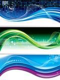 De Banners van de technologie Stock Fotografie