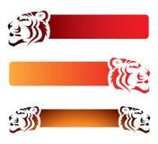 De banners van de tijger Royalty-vrije Stock Foto's