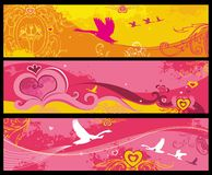 De banners van de valentijnskaart Royalty-vrije Stock Fotografie
