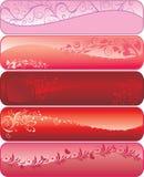 De banners van de valentijnskaart royalty-vrije illustratie