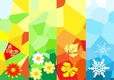 De banners van de vier seizoenen Stock Afbeeldingen