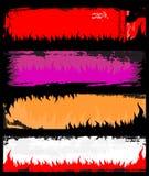 De banners van de vlam grunge Stock Afbeelding