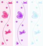 De Banners van de vlinder royalty-vrije illustratie