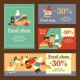 De banners van de voedselwinkel Royalty-vrije Stock Foto's