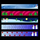 De banners van de winter Stock Foto