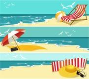 De banners van de zomer Stock Fotografie