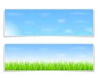 De Banners van de zomer Stock Afbeeldingen