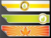 De banners van Eco Stock Foto's