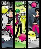De banners van Emo Royalty-vrije Stock Fotografie