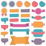 De Banners van etikettenlinten Stock Foto's