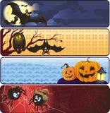 De banners van Fanny Halloween Stock Afbeeldingen