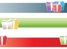 De banners van giften stock illustratie