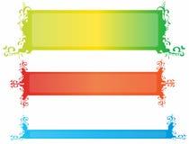 De banners van Grunge Stock Afbeelding