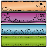 De banners van Grunge Stock Foto