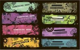 De banners van Grunge met plaats voor tekst Stock Afbeelding