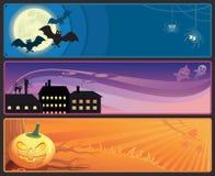 De banners van Halloween Stock Fotografie