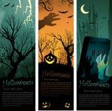 De banners van Halloween Royalty-vrije Stock Afbeelding