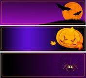 De Banners van Halloween Stock Afbeelding