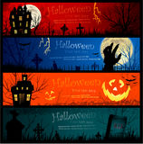 De banners van Halloween Stock Afbeeldingen