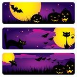 De banners van Halloween Royalty-vrije Stock Foto