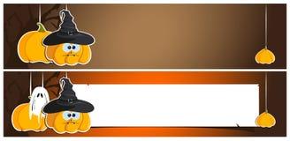 De banners van Halloween Stock Foto