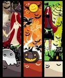 De banners van Halloween grunge Royalty-vrije Stock Foto's
