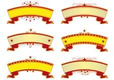De banners van het circus Stock Afbeeldingen