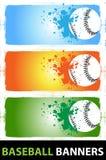 De banners van het honkbal Vector Illustratie
