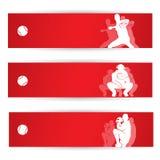 De banners van het honkbal Stock Afbeelding