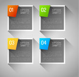 De banners van het Infographicmalplaatje