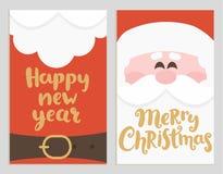 De banners van het kerstman` s bericht voor vakantie Stock Foto