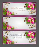 De Banners van het Kerstmisweb vector illustratie