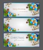 De Banners van het Kerstmisweb royalty-vrije illustratie
