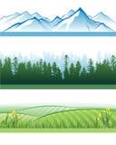 De banners van het landschap Stock Afbeeldingen