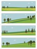 De banners van het landschap Stock Foto