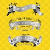 De banners van het lint met stofferingstextuur Royalty-vrije Stock Fotografie